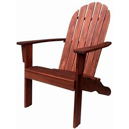 Mainstays Wood Outdoor Adirondack Chair, Dark Brown Color