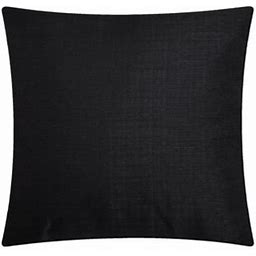 Mainstays Solid Decorative Throw Pillow, 16 Inch X 16 Inch, Black Size: 16 Inch X 16 Inch