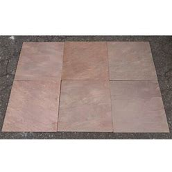 Stone & Tile Shoppe, Inc. Natural Cleft Face, Gauged Back 12X12 Slate Field Tile Natural Stone/Slate In Brown, Size 12.0 H X 12.0 W X 0.44 D In