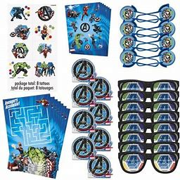 Avengers Birthday Party Favors For 8 Guests, 48pcs, Multicolor