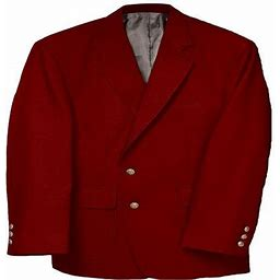 Edwards Garment Men's Classic Two Button Single Breasted Blazer, Style 3500, Size: 40 Small, Red
