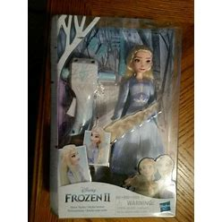 Disney Frozen Ll Sister Styles Elsa Fashion Doll W/Gizmo To Make
