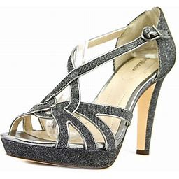Style & Co. Womens Selinaa Open Toe Formal Ankle Strap Sandals, Pewter, Size 6.5, Women's, Gray