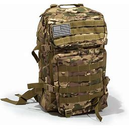 50L Expeditionary Tactical Backpack Green Camo