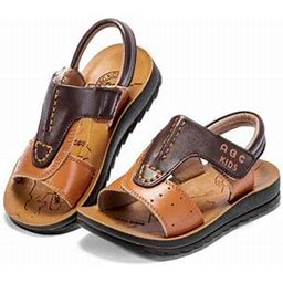 Topumt Baby Boys Breathable Anti-Slip Casual Mixed Sandals, Infant Boy's, Size: 26, Brown