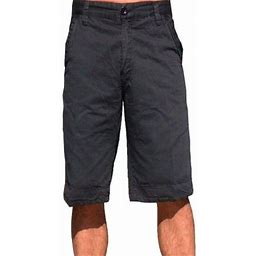 Stone Touch Jeans Stonetouch Mens Cotton Twil Chino Shorts 5fk Charcoal-40, Men's, Gray