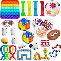 Akusety 28 Pack Sensory Fidget Toys Set Stress Relief Kits For Kids Adults - Special Toys Assortment For Birthday Party Favors, Classroom Rewards