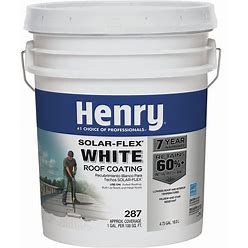 Henry Protective Roof Coating,4.75 Gal Model: HE287018