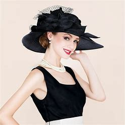 Jjshouse Ladies' Beautiful Special Elegant Papyrus Tulle Floppy Hats Kentucky Derby Hats
