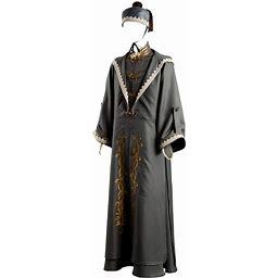 Hibuyer Men's Grand Wizard Dumbledore Cosplay Costume Deluxe Adult Halloween Fancy Dress