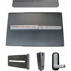 Lockeyusa Standard Panic Shield Kit Security - PB2500ALARM - Silver