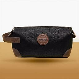 Manscaped The Shed Men's Toiletry Bag. Men's Black Travel Bag For Cosmetics. Leather-Like And Water-Resistant Lined.