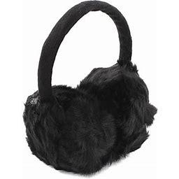Allegra K Women Winter Ear Warmer Round Earmuffs Headband, Women's, Size: 12, Black