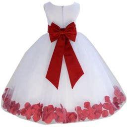 Ekidsbridal Wedding Pageant Rose Petals White Tulle Flower Girl Dress Toddler Junior Bridesmaid 302T Apple 12, Toddler Girl's