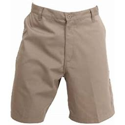 W S Men's Work Shorts, Carpenter Relaxed Fit, 9 Inch Inseam, 65% Poly 35% Cotton Twill With 5 Pockets., Size: 46, Beige