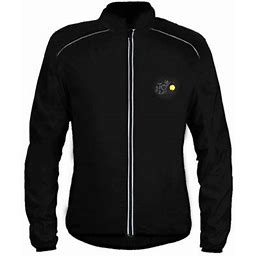 Men Women Lightweight Jacket Waterproof Windbreaker Bicycle Cycling Sport Jacket, Men's, Size: XL, Black