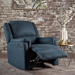 Christopher Knight Home Jennette Fabric Swivel Gliding Recliner