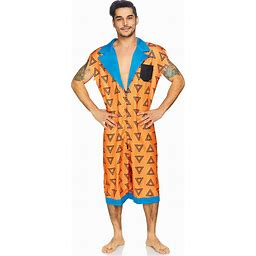 Bedrock Bro Romphim Costume For Men | Adult | Mens | Orange | S/M | Leg Avenue
