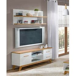 """Entertainment Center   Wayfair Ebern Designs Holsinger For Tvs Up To 55"""", Wood In White"""