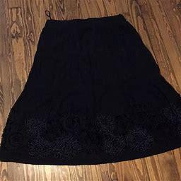 Simon Jeffrey Skirts   Plus Size Simon Jeffrey Maxi Skirt. Size 18   Color: Black   Size: 18
