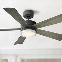 52 Modern Forms Wynd Graphite LED Wet Location Smart Ceiling Fan