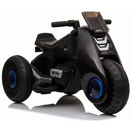 Zimtown Kid Motorcycle 6-Volt Battery-Power 3 Wheels Ride-On Toy Child Gift,Black