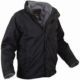 Rothco Black All Weather 3 In 1 Jacket - 7704 - 3X-Large, Adult Unisex, Size: 3XL