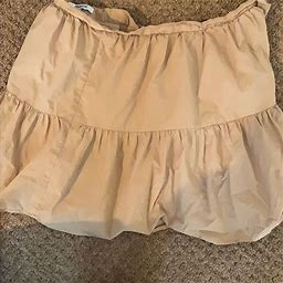 Madewell Skirts | Madewell Tan Skirt. Midi For Petite Mini For Tall | Color: Tan | Size: 2