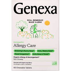 Genexa Allergy-D Adult Chewable Tablets, Acai Berry - 60 Ct