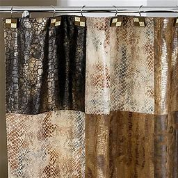 Zambia Animal-Print Shower Curtain, One Size , Multiple Colors