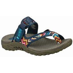 Skechers Reggae Zig Swag Sandal (Women's), Size: 6 Medium, Blue