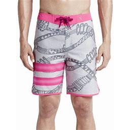 Hurley Mens Phantom Julian Snapper Fashion Board Shorts Grey/Pink, Men's, Size: 38