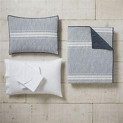 Windward Stripe Quilt Bundle Set, Basic Bundle, Full, Blue