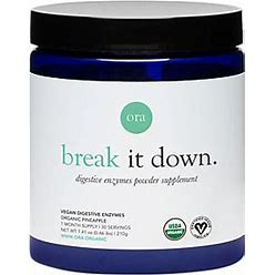 Break It Down Organic Digestive Enzymes Powder Pineapple (30 Servings)