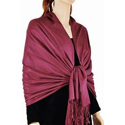 Large Solid Color Pashmina Shawl Wrap Scarf 78 Inch X 28 Inch, Women's, Size: One Size, Purple