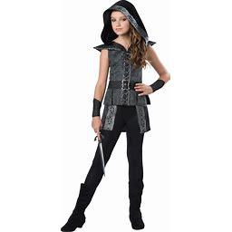 Tween Dark Woods Huntress Costume | Kids | Girls | Gray | 8/10 | In Character
