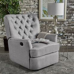 Salomo Tufted Fabric Power Recliner Chair By Christopher Knight Home