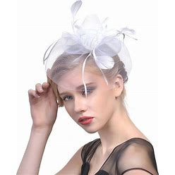 Jjshouse Ladies' Classic Cambric With Feather Fascinators Tea Party Hats