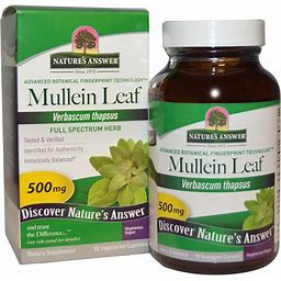 Natures Answer Mullein, Leaf, Vegetarian Capsules - 90 Capsules