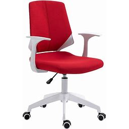 Techni Mobili Height Adjustable Mid Back Office Chair, Red