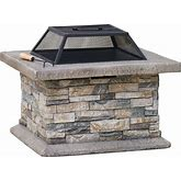 Best Selling Home Decor 29-In W Stone Cement Wood-Burning Fire Pit | 238995