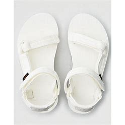 Teva Flatform Universal Mesh Print Sandal Women's White 11