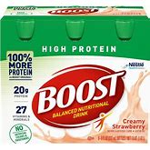 Boost High Protein Oral Supplement, Bottle Size Pack Of 6   Strawberry   Carewell