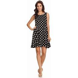 Moa Collection Women's Sleeveless Print Short Dress, Size: Large
