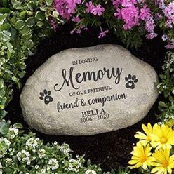 Personalized Pet Memorial Garden Stone - Faithful Companion
