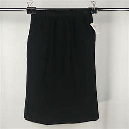 Fashionaire Black Pencil Skirt Womens Size 12 Tall NWT