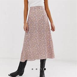 New Look Skirts | New Look Tall Asos Floral Skirt | Color: Pink | Size: 10
