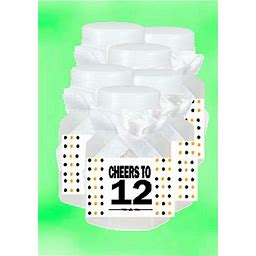 12th Birthday / Anniversary Party Favor Mini Bubbles With Wand -12Pack, Assorted