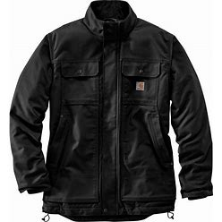 Carhartt Mens 104468 Full Swing Quick Duck Insulated Traditional Coat - Quilt Lined - Black Large Regular