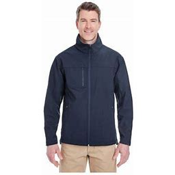 Ultraclub Men's Ripstop Soft Shell Jacket With Cadet Collar, Style 8280, Size: XL, Blue
